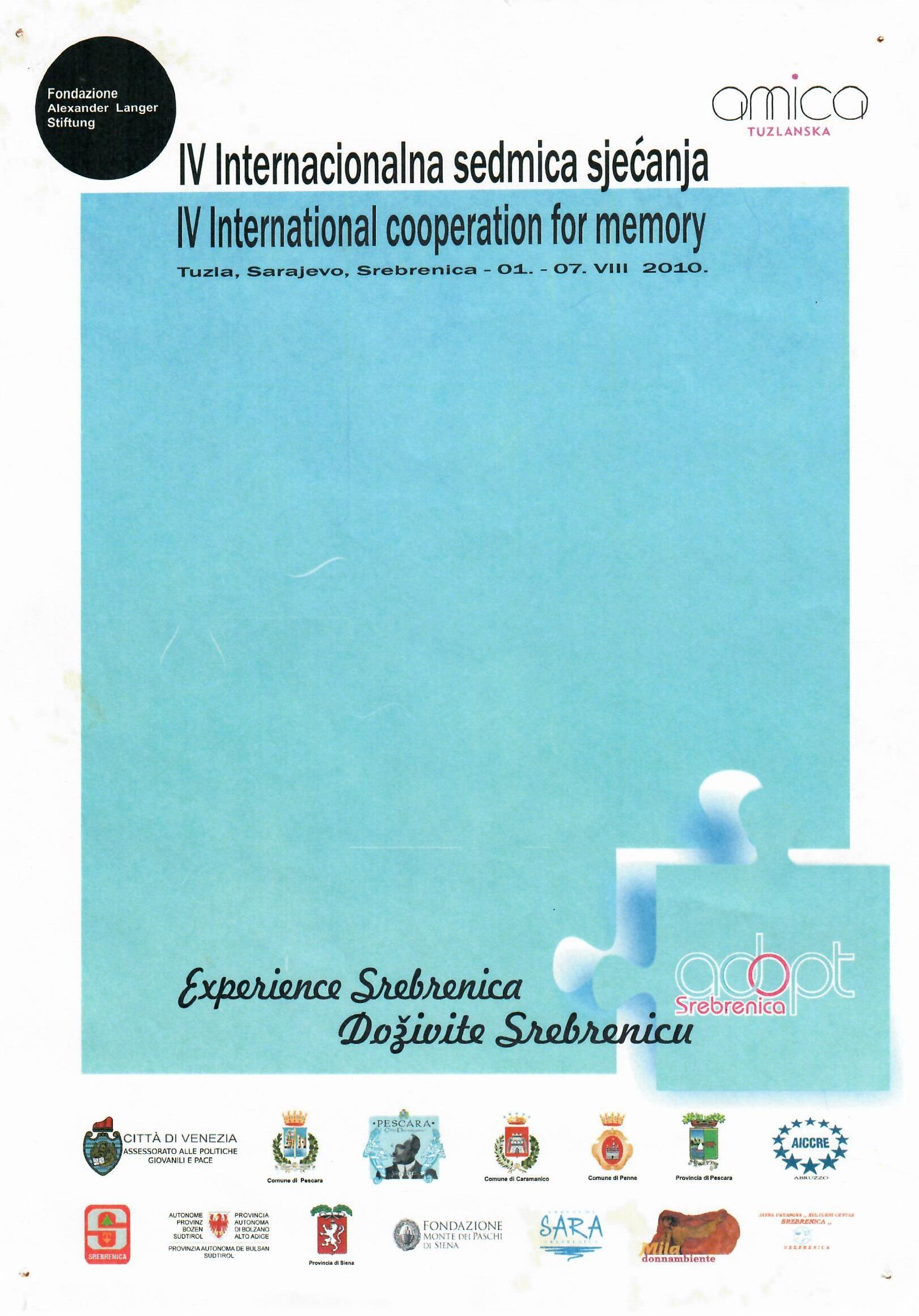 Međunarodna sedmica sjećanja 2010.